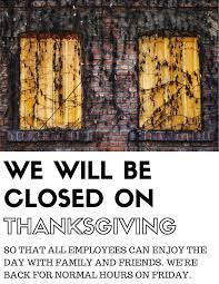 closed on thanksgiving day