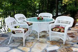 White Wicker Outdoor Patio Furniture Tortuga Portside Coastal White Wicker Dining Set Psdwh Coastalwhite