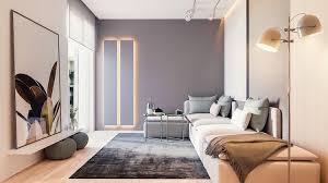 canapé petit salon design interieur petit salon moderne peinture grise canapé angle