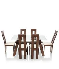 Solid Wood Furniture Online India Royaloak Olive Dining Set With 6 Chairs Solid Wood Buy Royaloak