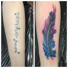 feather ankle tattoo cover up from this week by sarahjanetattoo i could get my wrist