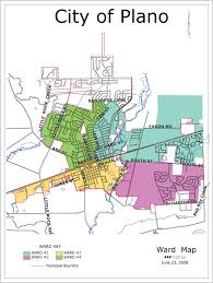 map plano city ward map plano il official website