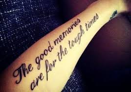 motivational black quote on arm tattoomagz