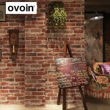 aliexpress com buy rustic vintage 3d faux brick wallpaper roll