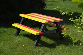 recycled american plastic toys picnic table with bench for ideas