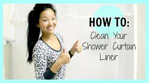 How To Wash Plastic Shower Curtain How To Clean Your Shower Curtain Liner Now U0026jenn Youtube