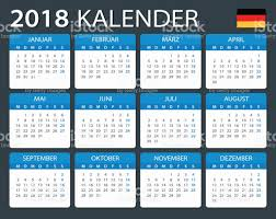 Kalender 2018 Germany Kalender 2018 Deutsche Version Vektor Illustration 694585074 Istock