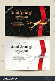 Inauguration Invitation Card Sample Grand Opening Invitation Cards Stock Vector 236653462 Shutterstock