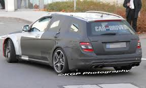 mercedes c63 wagon spied mercedes c63 amg estate black series expands black