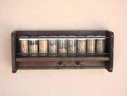 Wooden Spice Rack Wall Wall Spice Rack Wood Spice Rack Hanging Spice Rack Wall