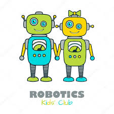 imagenes educativas animadas linda plantilla de icono plano educativo robot de dibujos animados