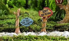 enchanted forest tree vine sign