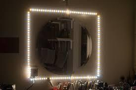Inexpensive Vanity Lights Set Up Really Cool Inexpensive Led Strip Lighting Alaya Techne