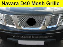 chrome nissan 3pc chrome mesh front grille for nissan navara d40 pickup new