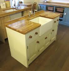 1500 x 600 freestanding pine kitchen belfast sink unit oak worktop