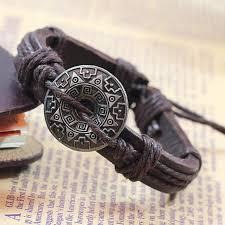 leather hand bracelet images Brown hand woven leather bracelet at boho fairy jpg