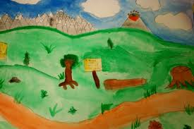 simple scenery paintings for children pastel painting how to