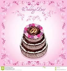 Wedding Wishes Cake Wedding Greeting Or Invitation Card With Cake Stock Photography