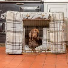 Dog Crate Covers Cairngorm Grey Tweed Dog Crate Cover Lords U0026 Labradors