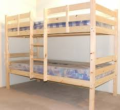 Ft Single Solid Pine HEAVY DUTY Bunk Bed - Solid pine bunk bed
