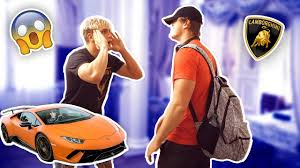 audi r8 tanner braungardt jake paul is enjoying in italy streets with logan anthony kade