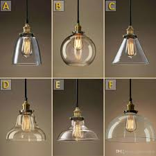 Retro Hanging Light Fixtures Vintage Chandelier Diy Led Glass Pendant Light Pendant Edison L