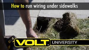Landscape Lighting Wire by Volt University Install Landscape Lighting Wire Under Sidewalk