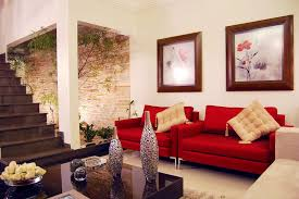 Bright Red Sofa Modern Living Room Decorating Ideas With Red Sofa And White Wall