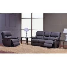 fauteuil et canapé moulin des affaires ensemble relax pomelo cuir 3 places 2