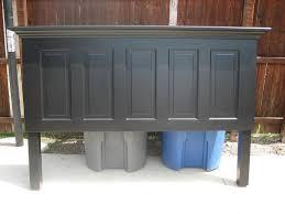 5 panel old door headboard painted satin onyx black by vin u2026 flickr