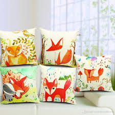 Ikea Paintings by New Ikea Hand Paintings Red Fox Series Cushions Pillows Covers