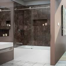 frameless glass shower doors over tub aston langham 60