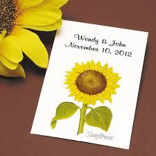 flower seed wedding favors sunflower wedding seed favor