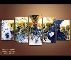 5 piece canvas art football irish notre dame fight nfl wall art