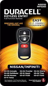 nissan murano key fob duracell remotes products keyless entry remotes u0026 key fobs