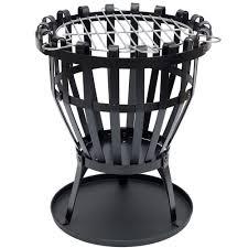 discount patio heater steel brazier round fire pit basket garden patio heater bbq by
