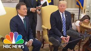 press knocks over oval office furniture during south korean