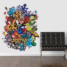 v c designs ltd tm regular full colour graffiti wall sticker v c designs ltd tm regular full colour graffiti wall sticker wall decal wall art vinyl wall mural amazon co uk kitchen home