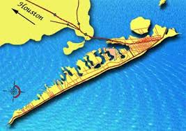 galveston island map galveston island city profile