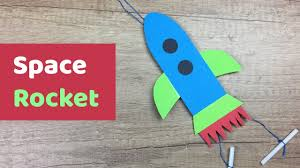 paper diy for kids space rocket craft l it can fly and its easy to