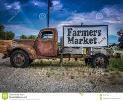 Vintage Ford Truck Signs - vintage truck farmers market sign stock photo image 56706184