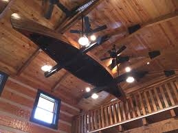 Lodge Ceiling Fans With Lights Rustic Lodge Ceiling Fans With Lights An Antique Canoe Turned Into