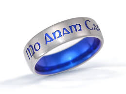 can titanium rings be engraved personalized ring custom name ring custom titanium ring