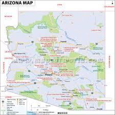 Asu Map Download Map Usa Arizona Major Tourist Attractions Maps