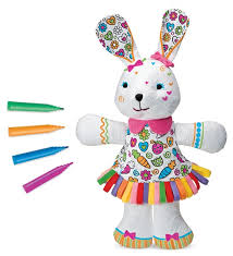 Art And Craft For Kids Of All Ages - color me bunny plush toy arts u0026 crafts kits hearthsong