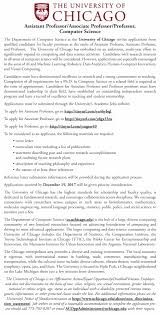 job details multiple faculty positions at university of chicago