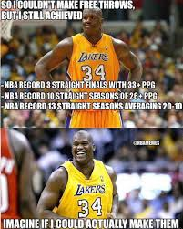 Make Memes For Free - if shaq could make free throws http nbafunnymeme com nba funny