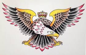 40 old eagle tattoos