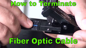 how to terminate fiber optic network cable youtube