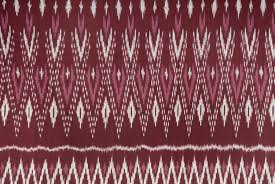 Ikat Home Decor Fabric by Laos Ikat Handwoven Textile Ethnic Home Decor Dark Red Burgundy